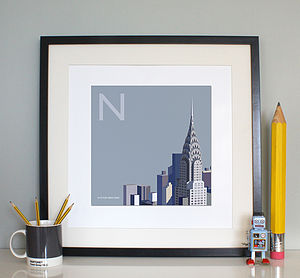 'N Is For New York' Print