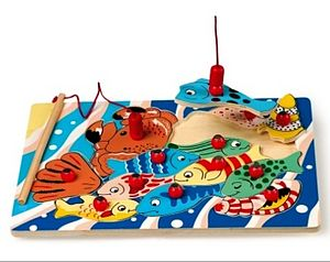 Two Games In One, Jigsaw Puzzle And Fishing Game - board games & puzzles