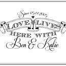 Personalised Love Lives Print