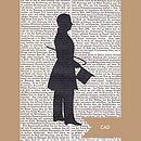 Victorian Gentleman Silhouette Book Prints