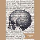 Skull Book Print