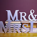 Silver Personalised Mr & Mrs Letters
