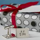 personalised wedding date cufflinks