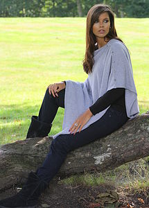 Pure Cashmere Buttoned Poncho Wrap - view all sale items