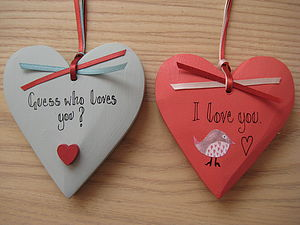 Guess Who Loves You And I Love You Hearts - home accessories