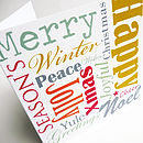 Christmas Words Card Pack