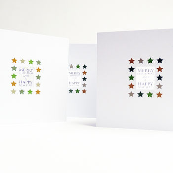 Starry Translucent Christmas Card Pack