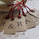 Personalised Set Of Three Letter Tags