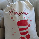Embroidered Stocking Christmas Sack Extra Large