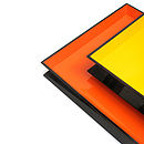 Large Square Reversible Tray: Orange and Yellow