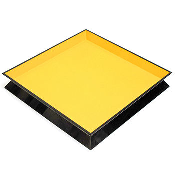 Large Square Reversible Tray: Yellow side of Orange and Yellow