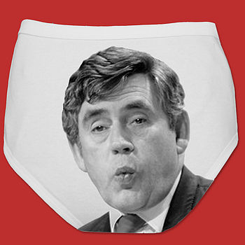 Political Man Pants Socialist Skivvies Gordon Brown