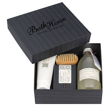 Men's Spanish Fig And Nutmeg 'Bathe' Giftbox