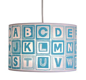Alphabet Block Nursery Lampshade