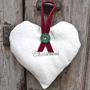Christmas Lavender Heart