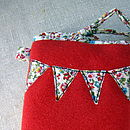 Back of the Little Dog Phone Cosy.....that has bunting too!