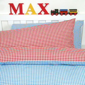 Gingham Bed Linen Set - soft furnishings & accessories