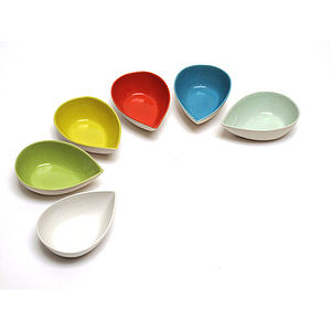 Set Of Teardrop Shaped Dip Bowls - home accessories