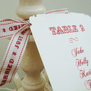 Bespoke Table Plan Cards