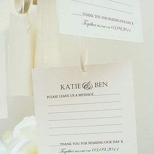 20 Wish Tags - table decorations