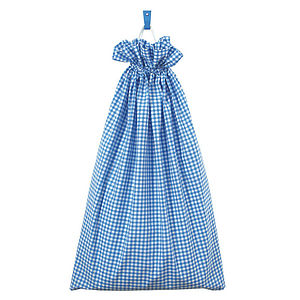 Gingham Laundry Bag - laundry bags & baskets