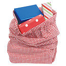 Gingham Laundry Bag (red)
