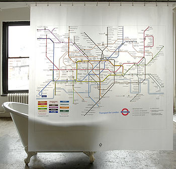 London Underground Shower Curtain