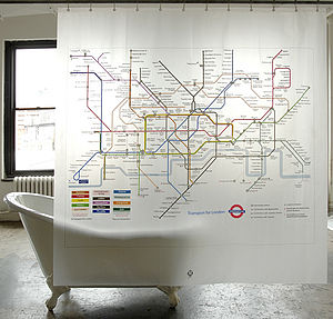 London Underground Shower Curtain - living room