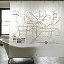London Underground Shower Curtain - bathroom decorations
