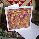 Romantic Love Heart Quilt Card