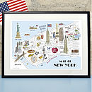 Alice Tait 'Map Of New York' Print
