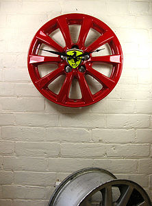 Real Alloy Wheel Ferrari Clock - kitchen