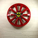 Personalised Real Alloy Wheel Ferrari Clock