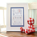 Personalised New Baby Boy Canvas Print