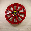 Real Alloy Wheel Ferrari Clock