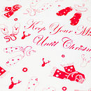 'Mitts Off' White Christmas Wrapping Paper
