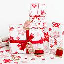 Snowflakes White Christmas Wrapping Paper Set