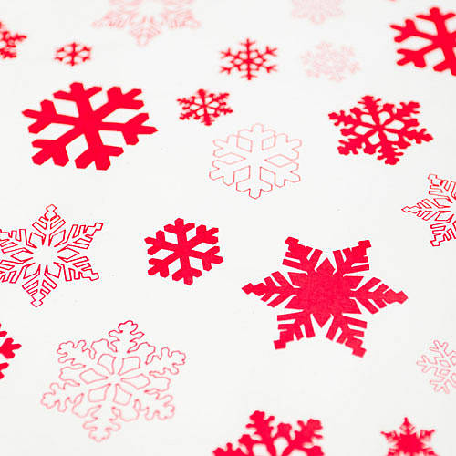 Snowflakes white christmas wrapping paper set by sophia for How to wrap presents with wrapping paper