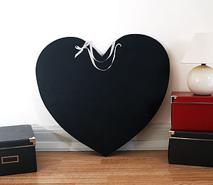 Large Heart Chalkboard - room signs