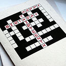Personalised Crossword Card
