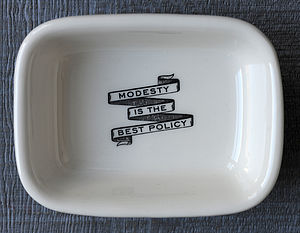 'Modesty Is The Best Policy' Soap Dish