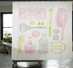 Powder Room Shower Curtain - bathroom