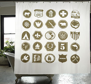 Scout Canvas Shower Curtain - bathroom