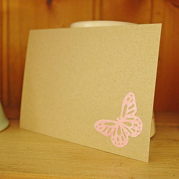 Pink Butterfly Postcard