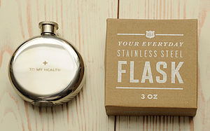'To My Health' Hip Flask Medium - hip flasks