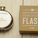 'To My Health' Hip Flask Medium
