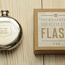 'Put Some Hair On Your Chest' Hip Flask