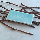 Handmade Porcelain Brooch With Twig Design
