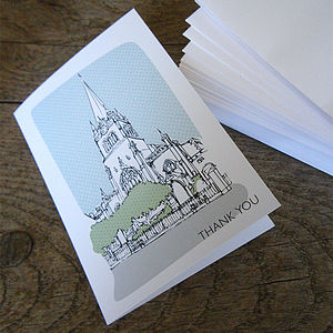 50 Personalised New Home Cards - thank you cards