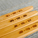 Wooden Bamboo Toothbrush Set